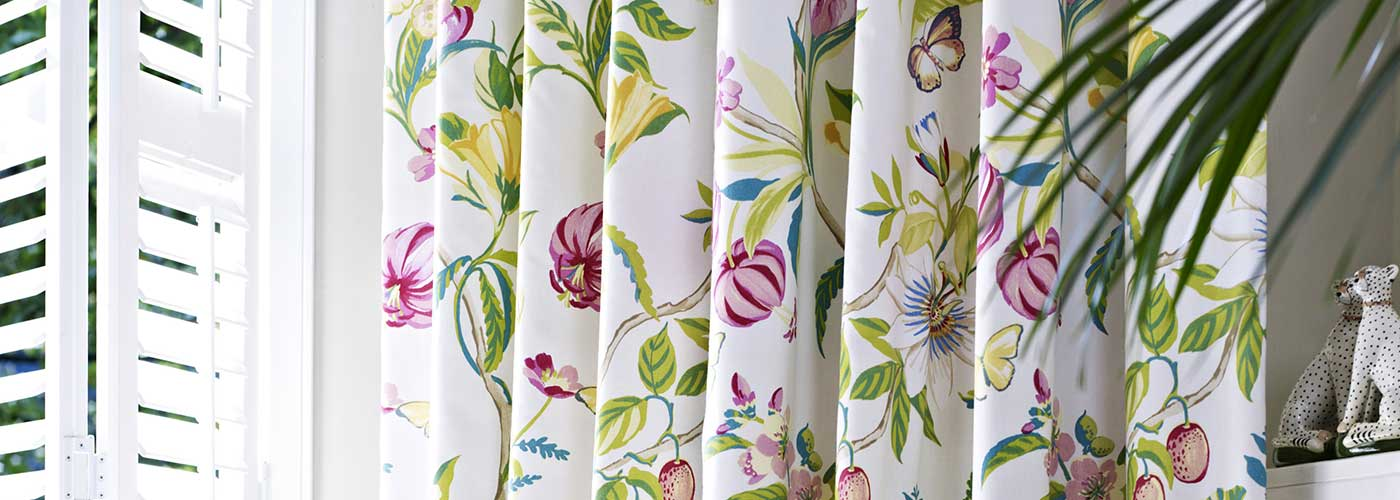 Floral curtains supply and fitting Bath